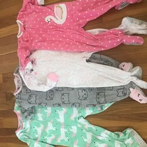 18 month footed fleece zip up jammies